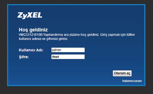 ZyXEL Modem Şifre (Unutma) Bulma ve Değiştirme İşlemleri